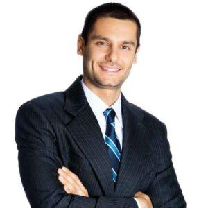 Businessman, isolated on white background